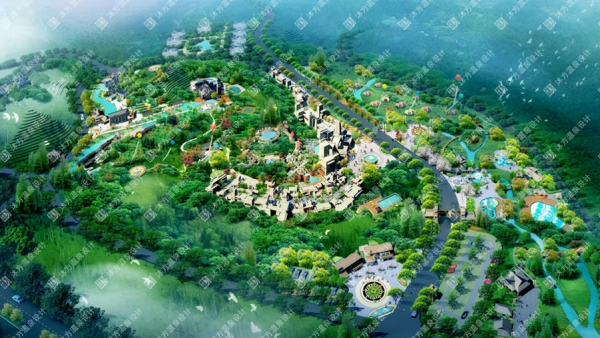 四川绵阳北川城市温泉文化公园