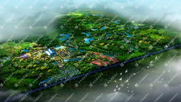 湖北武汉木兰山龙王山温泉度假小镇