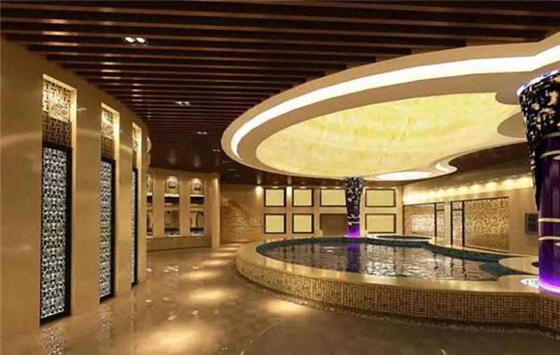 温泉会所设计,室内温泉设计